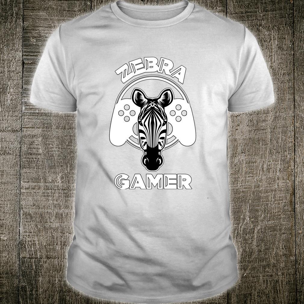 Zebra Gamer Controller Design For Gamer Shirt