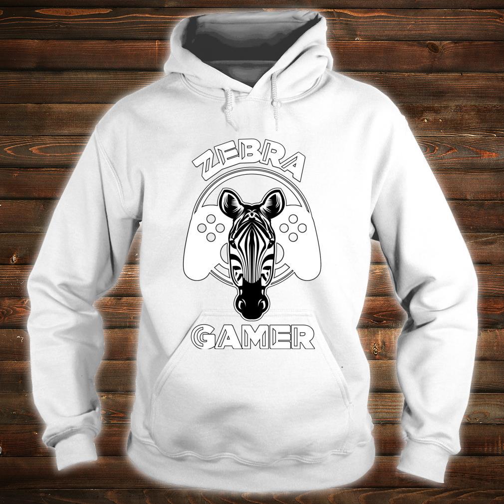 Zebra Gamer Controller Design For Gamer Shirt hoodie