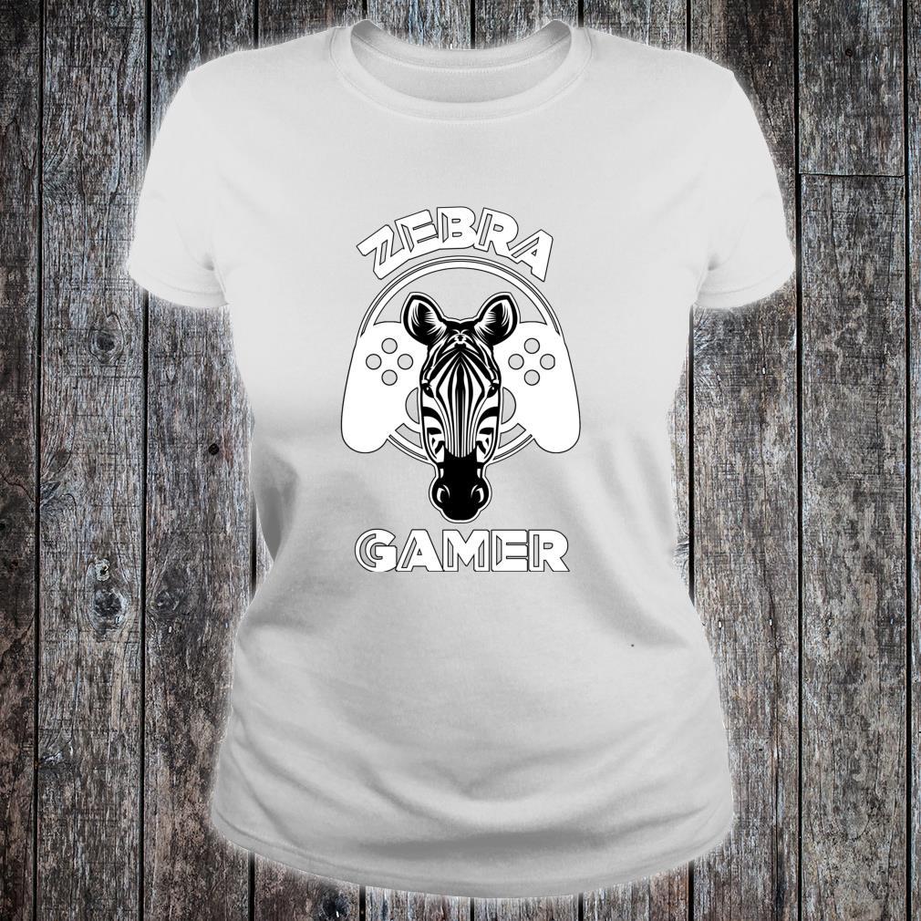 Zebra Gamer Controller Design For Gamer Shirt ladies tee