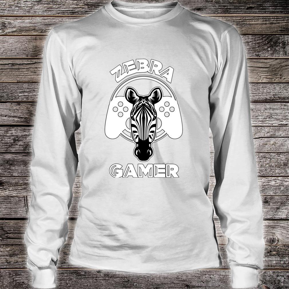 Zebra Gamer Controller Design For Gamer Shirt long sleeved