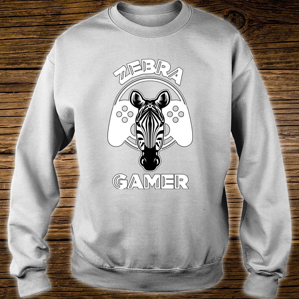 Zebra Gamer Controller Design For Gamer Shirt sweater