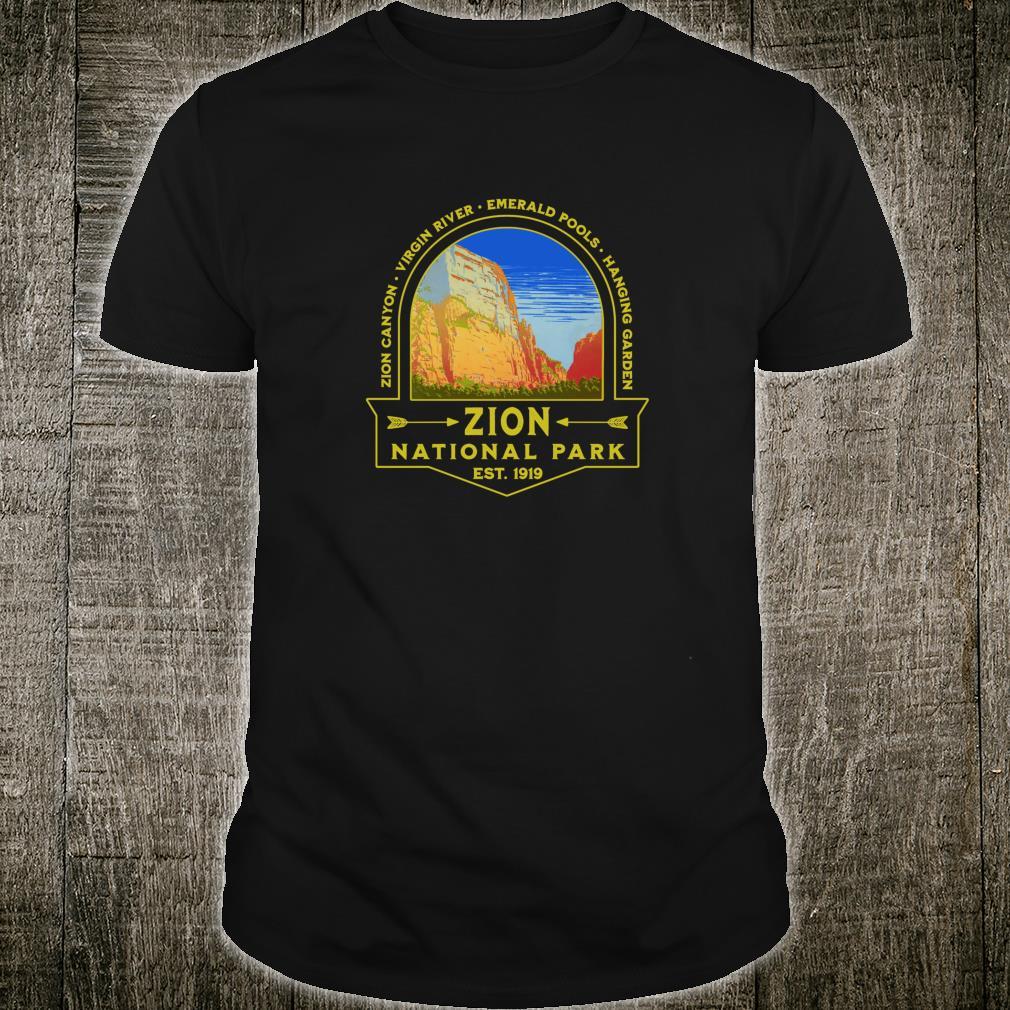 Zion National Park Retro Centennial Hiking Camping Canyons Shirt