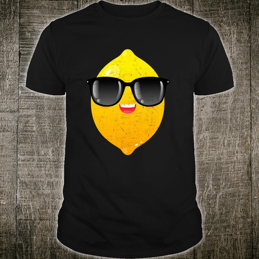 Zitrone mit Sonnenbrille Sommer Design Shirt