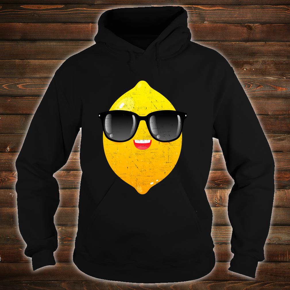 Zitrone mit Sonnenbrille Sommer Design Shirt hoodie