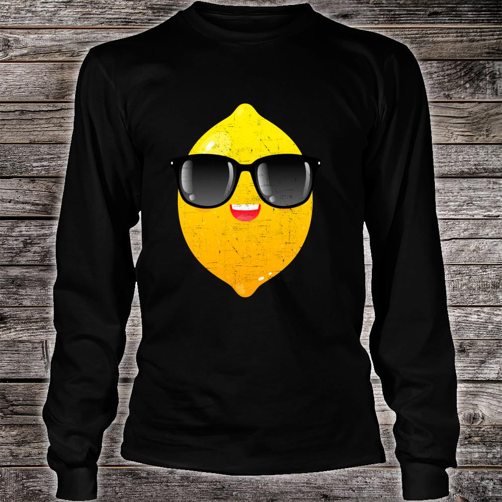 Zitrone mit Sonnenbrille Sommer Design Shirt long sleeved