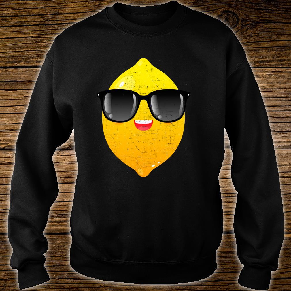 Zitrone mit Sonnenbrille Sommer Design Shirt sweater