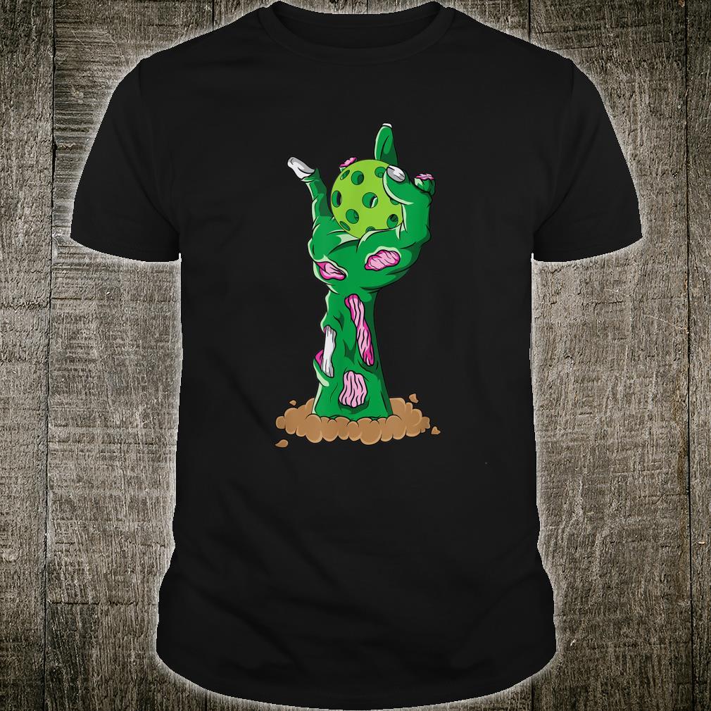 Zombie Hands Pickleball Halloween Horror Scary Costume Shirt