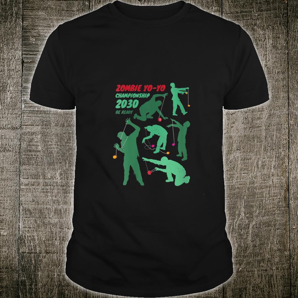 Zombie YoYo Championship Distressed Halloween Shirt