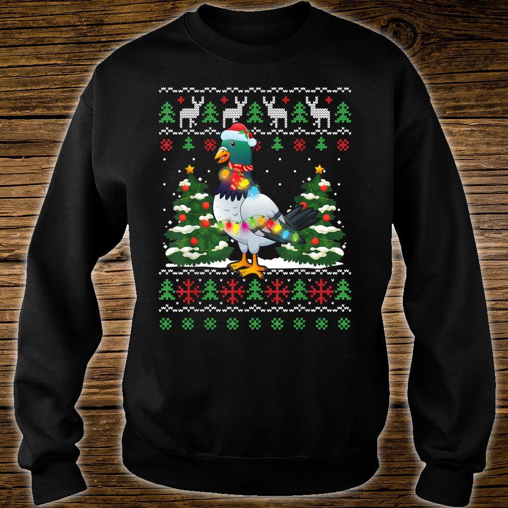 Zookeeper Pigeon Bird Santa Hat Xmas Tree Lights Christmas Shirt sweater