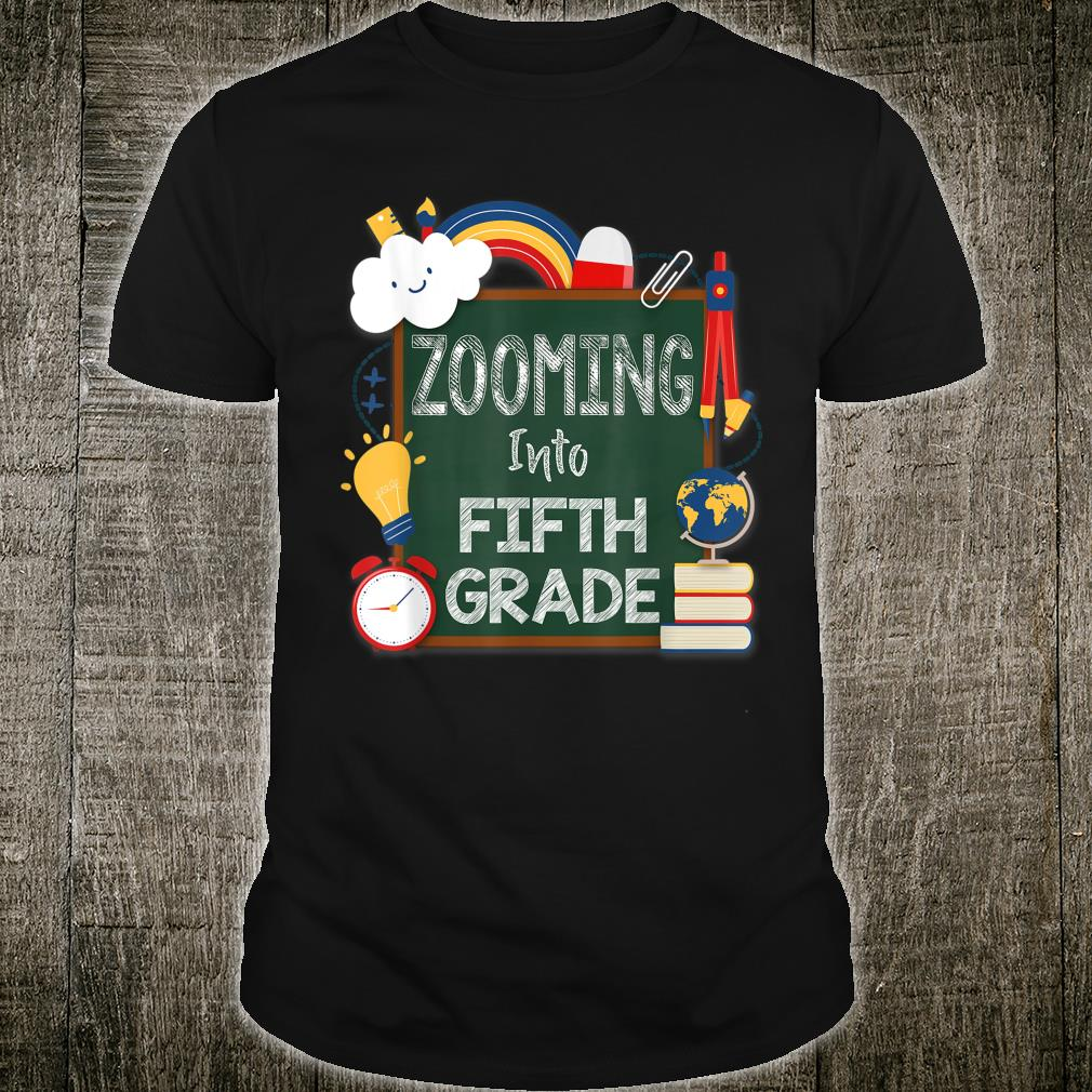 Zooming Into Fifth Grade Virtual Back to School Kid 5th Shirt