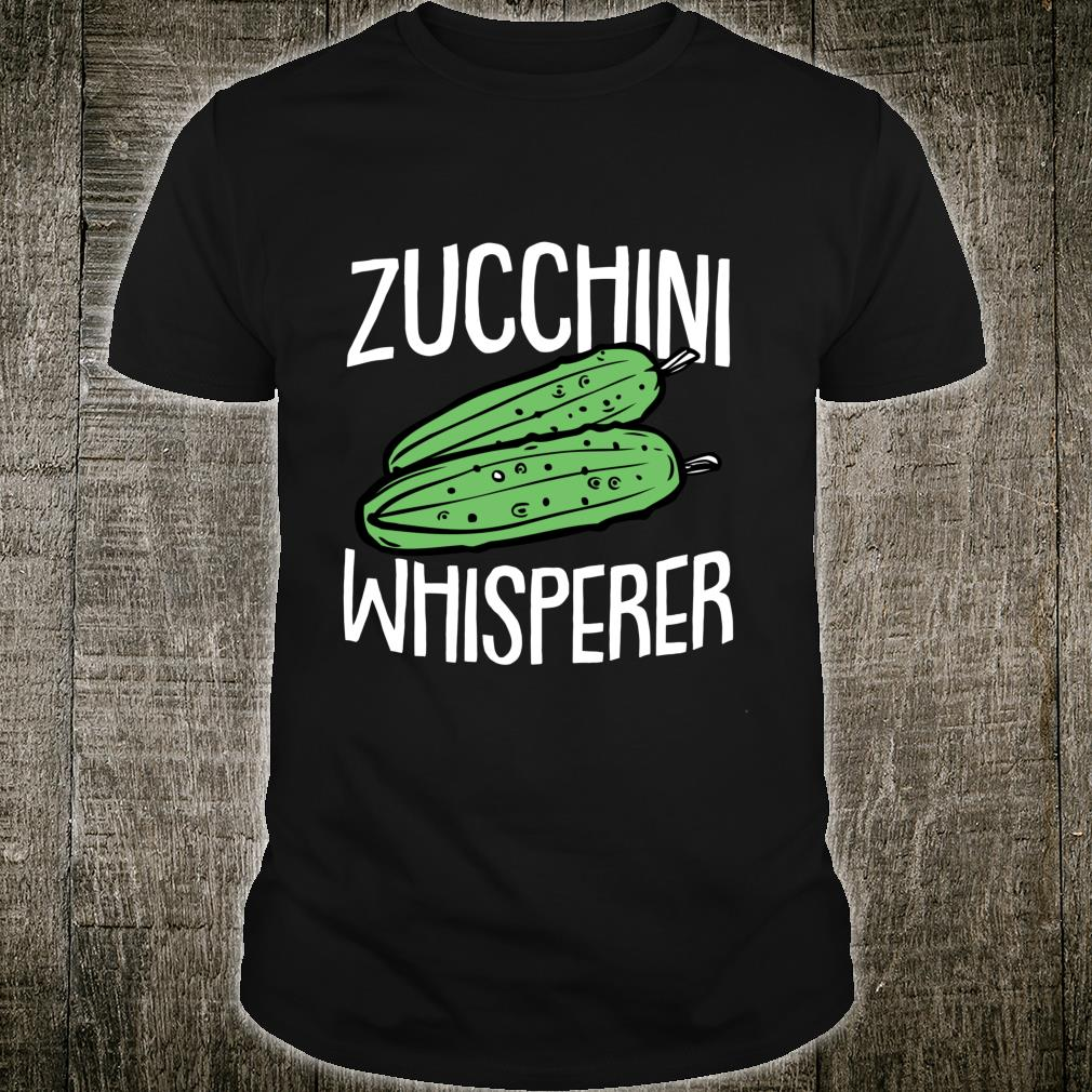 Zucchini Fathers Day Gardening Vegetarian Dad Papa Gardener Shirt